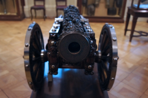 A highly decorated cannon from the Walace Collection. Photo by Simon Wilder