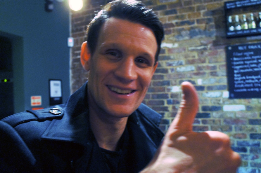 A slightly blurred, slightly cheesey Matt Smith. Photo by Simon Wilder