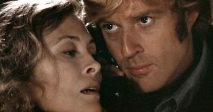 Robert Redford and Faye on the phone